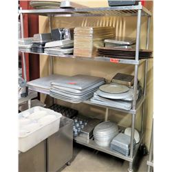 Rolling 3-Tier Shelving Unit w/ Adjustable Metal Shelves (Shelf Only, no contents)