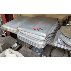 Contents of Shelf - Multiple Square, Rectangle & Round Baking Pans, Muffin Tins, etc