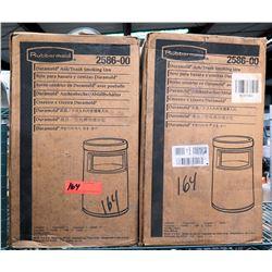 Qty 2 Rubbermaid 2586-00 Duramold Ash/Trash Smoking Urns