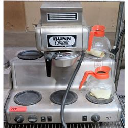 Bunn O'Matic Single Brew  Coffee Maker w/ 4 Extra Warmers & 2 Coffee Pots'