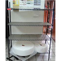 Black Metal Wire 4-Tier Shelving Unit (shelf only, contents not inclduded)