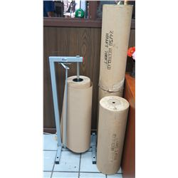 Bulman Products Vertical On- Roll Paper Rack & Extra Rolls