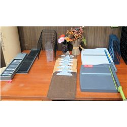 Misc Office Supplies - Paper Cutters, Clip Boards, Organizers, etc