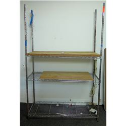 Adjustable 3-Tier Wire Shelving Unit