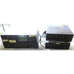 Qty 3  TOA 700 Series Integrated Amplifiers & ProFusionX DVD Player