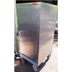 Stainless Steel Solid Door Pan Tray Holding Cabinet