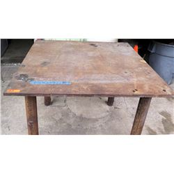 "Metal Industrial Square Work Table 48"" x 48"" x 37""H"
