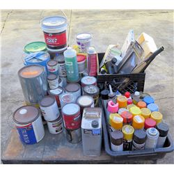Pallet Misc Paint - Gallons, Spray Cans, Thinner, Spackling,  etc