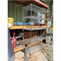 Metal Wire 5 Tier Adjustable Shelf Unit