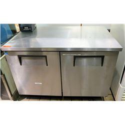 """True TUC-48 Double Door Undercounter Refrigerator 48"""" x 30"""" x 36""""H"""