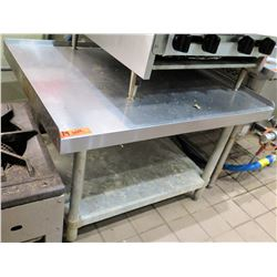 """Square Stainless Steel Work Table w/ Edges & Undershelf 36.5""""W x 30""""D x 25""""H"""
