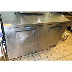 """True TWT-48 Double Door Worktop Undercounter Refrigerator 48.5"""" x 30.5"""" x 36"""" surface ht"""