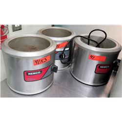 Qty 3 Nemco Commercial Soup Warmers