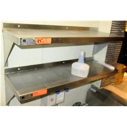 """Qty 2 Elkay Foodservice Products M01 Stainless Wall Mount Utility Shelf (36""""Long x 12"""" Depth)"""