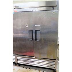 "True T-49 Solid 2 Door Reach-In Commercial Refrigerator 54""W x 30""W x 83""H, Has Wheels"
