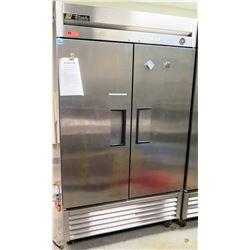 "True T-439 Solid 2 Door Reach-In Commercial Refrigerator 47""W x 30""W x 83""H, Has Wheels"