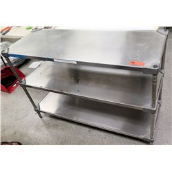 "Eagle Stainless Steel Work Prep Table w/ 2 Undershelves 48"" x 18"" x 33.5""H"