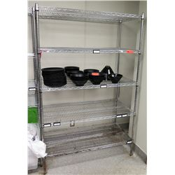 "Thunder Group 4-Tier Wire Shelf Unit 47.5""W x 24""D x 74""H"