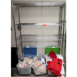 "4-Tier Wire Shelving Unit 47.5""W x 18""D x 74""H"