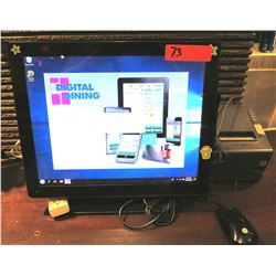 POS Terminal w/ Cords & Epson Receipt Printer
