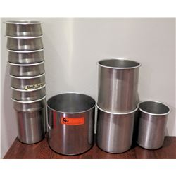 Multiple Misc Size Stainless Steel Soup Stew Insert Serving Containers