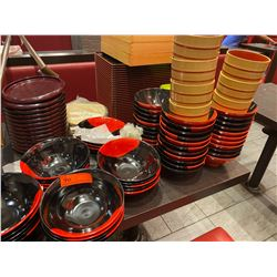Large Lot of Misc. Lacquered Bowls, Trays, Platters