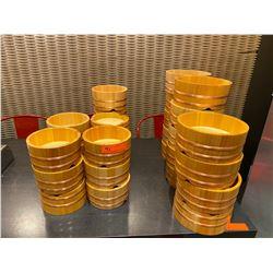 Lot of Banded Bamboo Bowls