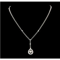 1.08 ctw Diamond Necklace - 18KT White Gold