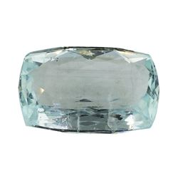 10.92 ct.Natural Cushion Cut Aquamarine