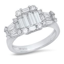 14K White Gold 1.45CTW Diamond Ring, (VS/VS/F-G)