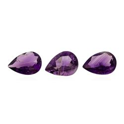 18.70 ctw. Natural Pear Cut Amethyst Parcel of Three
