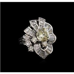 3.62 ctw Diamond Ring - Platinum