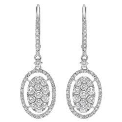 14k Gold 1.28CTW Diamond Earrings, (SI2-SI3/H-I)