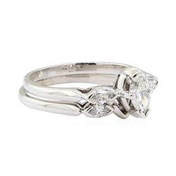 0.50 ctw Diamond Wedding Set - 18KT White Gold