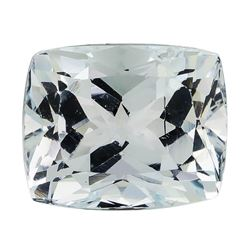 5.80 ct.Natural Rectangle Cushion Cut Aquamarine