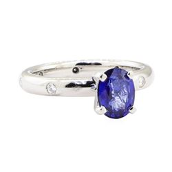 1.62 ctw Sapphire and Diamond Ring - Platinum