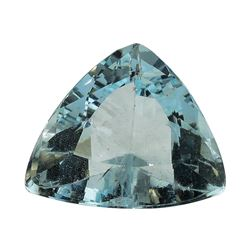 3.01 ct.Natural Trilliant Cut Aquamarine