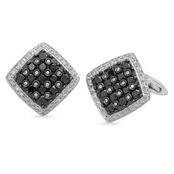 18k Gold 2.5CTW Diamond Cuff Links, (SI1-SI2/G-H)