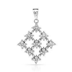 18k White Gold 0.57CTW Diamond Pendant, (I1/G-H)