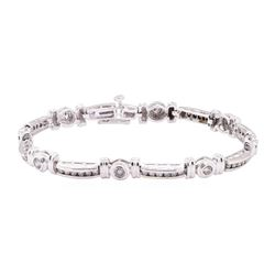 2.05 ctw Diamond Bracelet - 14KT White Gold