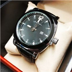 Mens Timeless L.A. Banus Genuine Leather Band Watch
