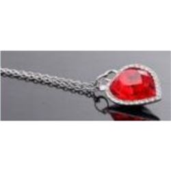 Austrian Crystal with Swarovski Elements - Red heart necklace