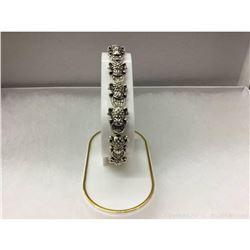Asian Tibetan Silver Frog Bracelet