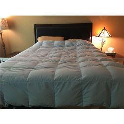 """Black Designer Queen Bed 55""""H 63.5""""L"""