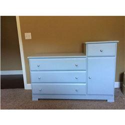 "Kids Dresser with Toy Side Cupboard 37.5""H 52.5""W 18""D"