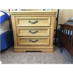 """Scandinavian 3-drawer End Table (2 of 3 matching bedroom set) 30""""H 32.5W 17""""L"""