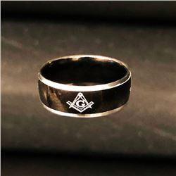 Black Mens Titanium Engagement Ring Size 10