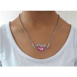 Austrian Crystal with Swarovski Elements - Angel wings & Love/Heart-Pink