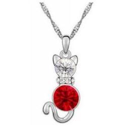 Austrian Crystal with Swarovski Elements - Kitten-Red