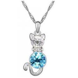 Austrian Crystal with Swarovski Elements - Kitten-Blue